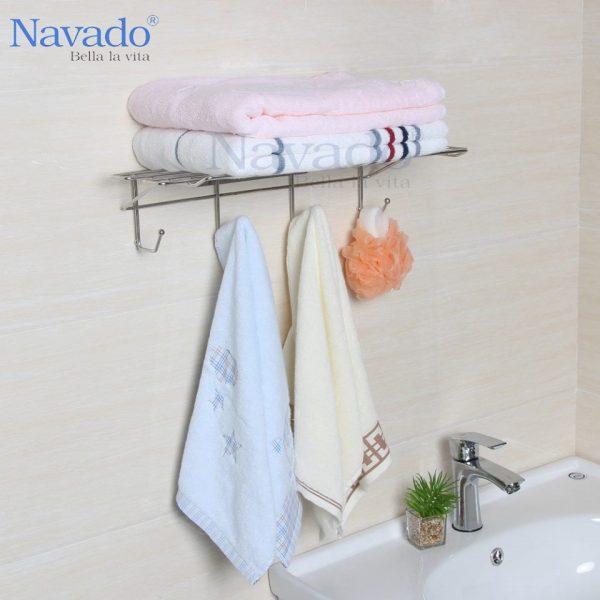 Kệ treo xếp khăn không khoan tường