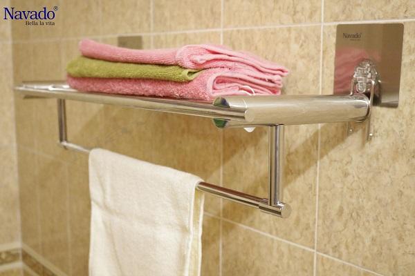 Giá treo khăn không khoan tường tiện ích