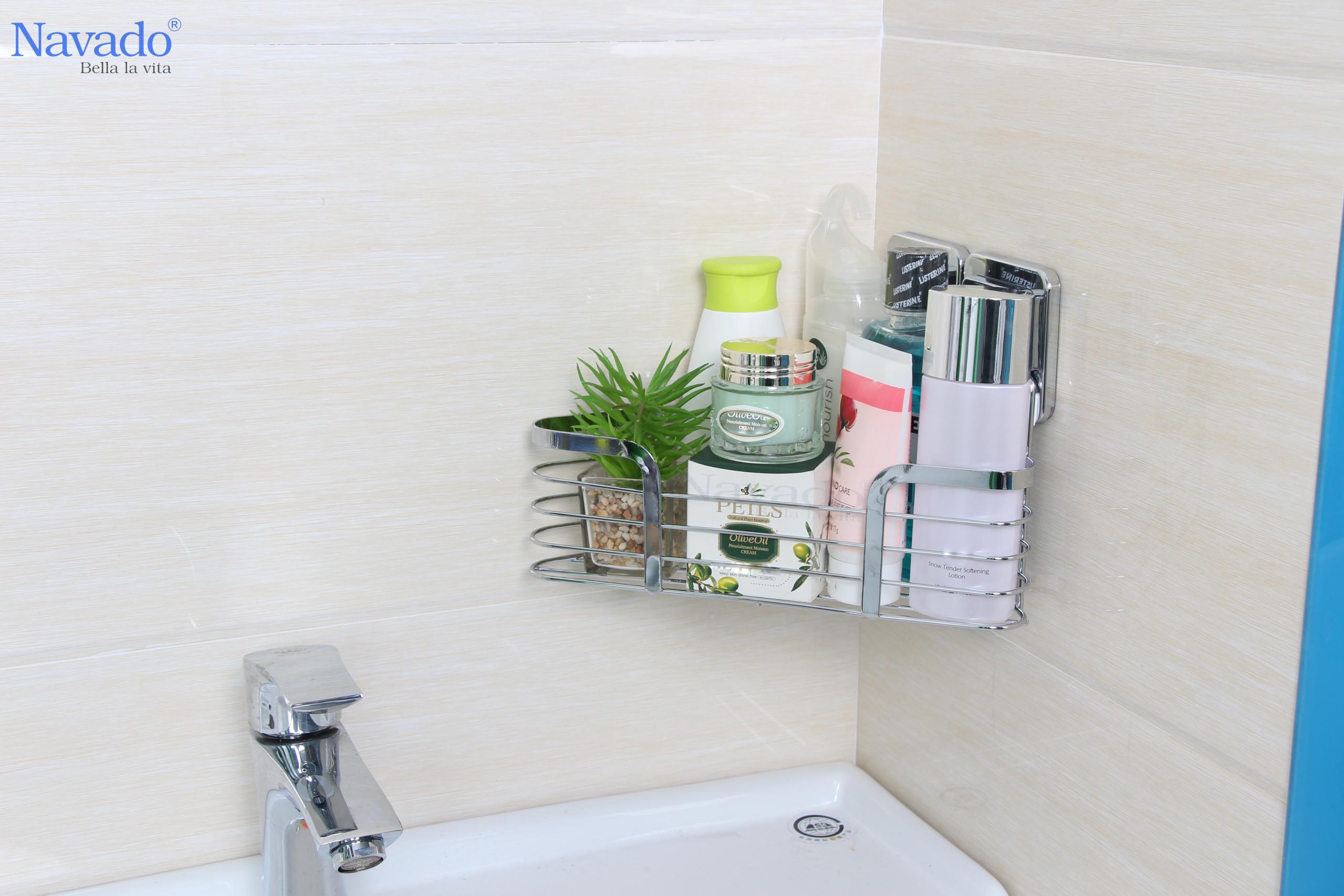 Phụ kiện phòng tắm không khoan tường