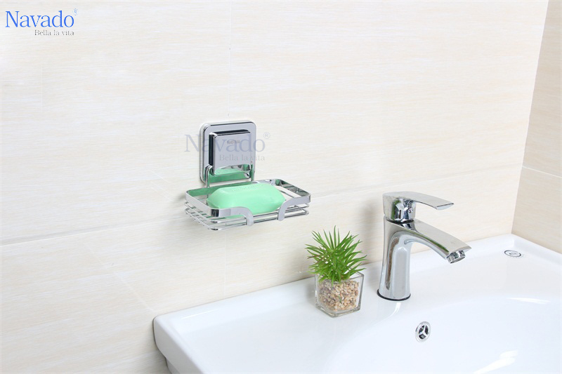 Nan xà bông inox cho phòng tắm