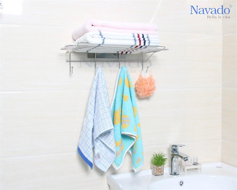 Kệ để khăn inox không khoan tường